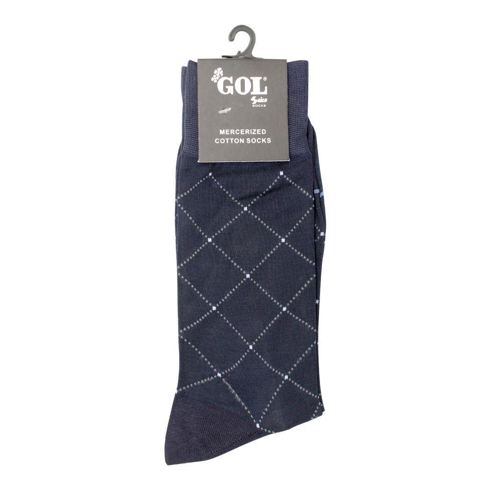 Gol Mercerized Cotton Socks, Navy Blue