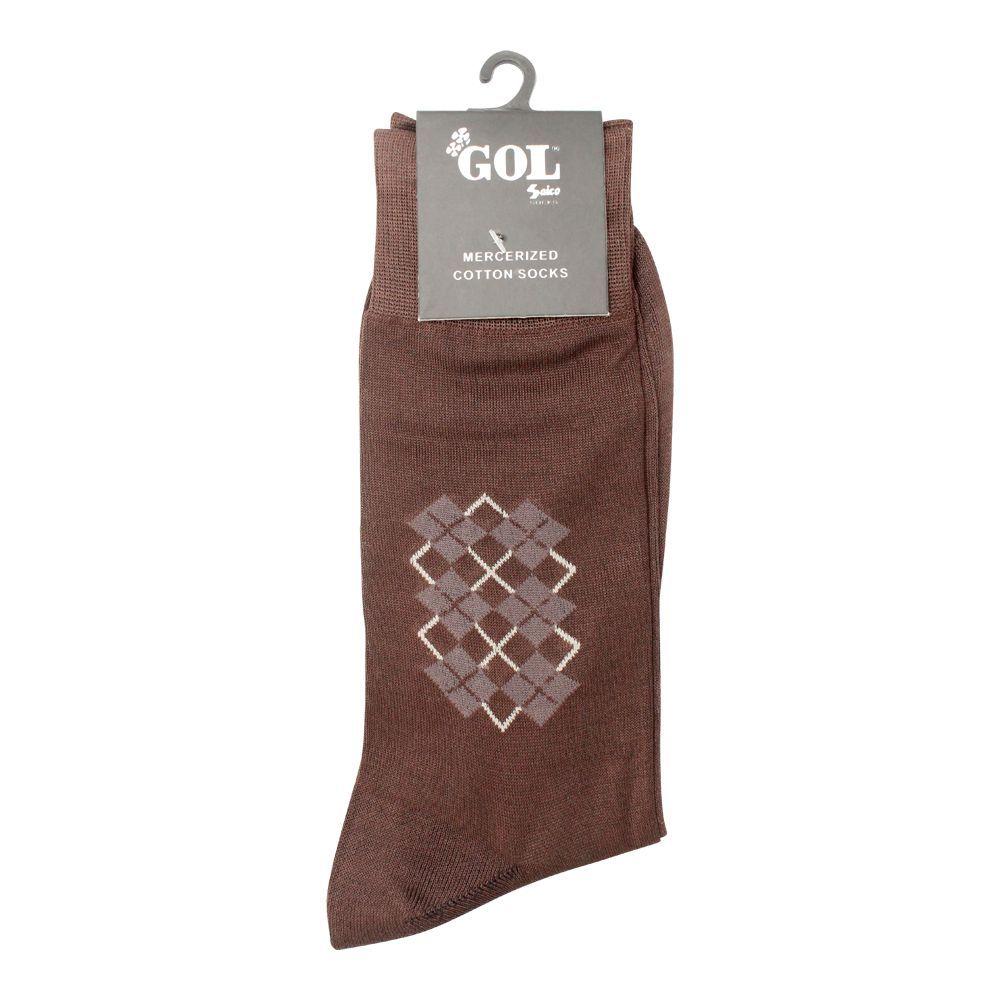 Gol Mercerized Cotton Socks, Light Brown
