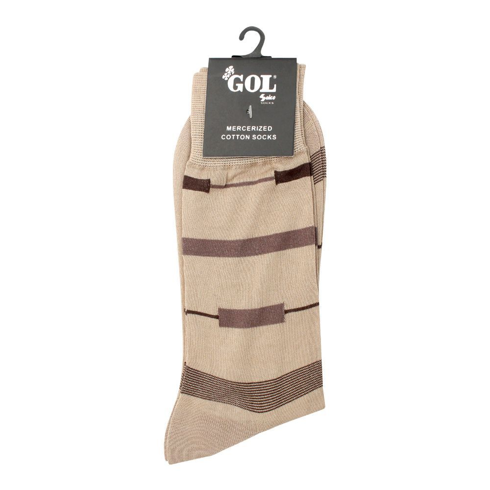Gol Mercerized Cotton Socks, Beige