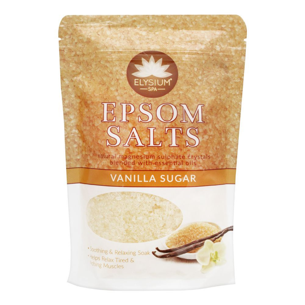 Elysium Spa Epsom Bath Salt, Vanilla Sugar, 450g