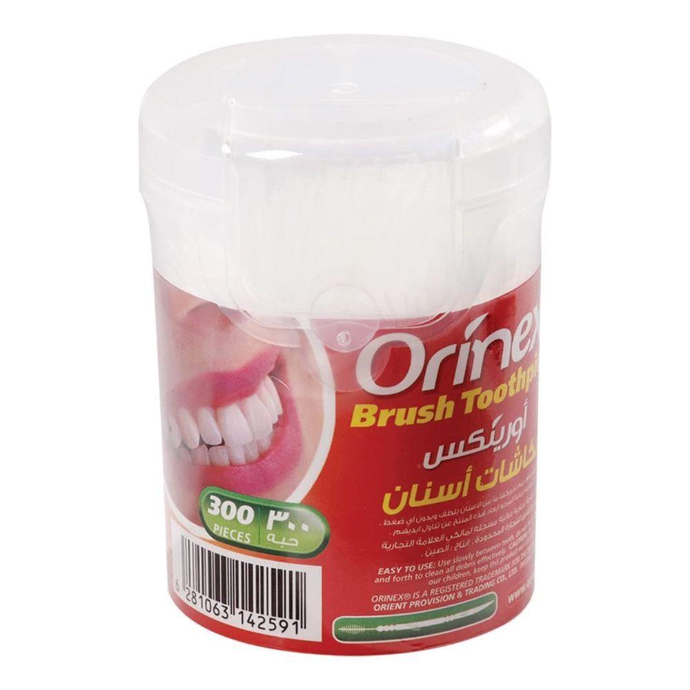 Orinex Brush Toothpick, 300-Pack, JS-4300BP