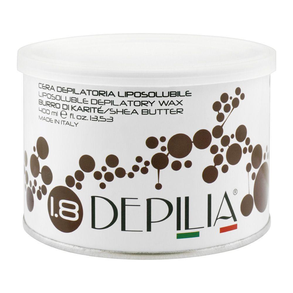 Depilia Shea Butter 1.8 Liposoluble Depilatory Wax, 400ml