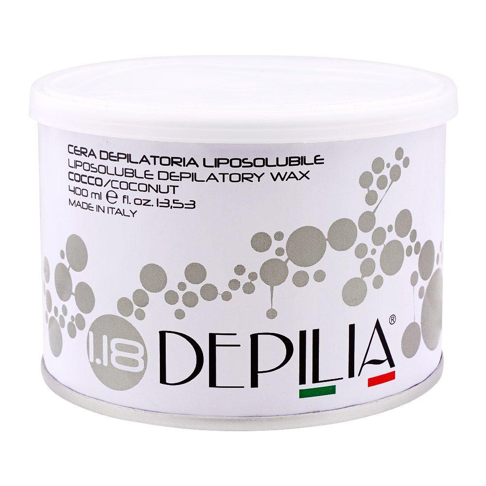 Depilia Coconut 1.18 Liposoluble Depilatory Wax, 400ml