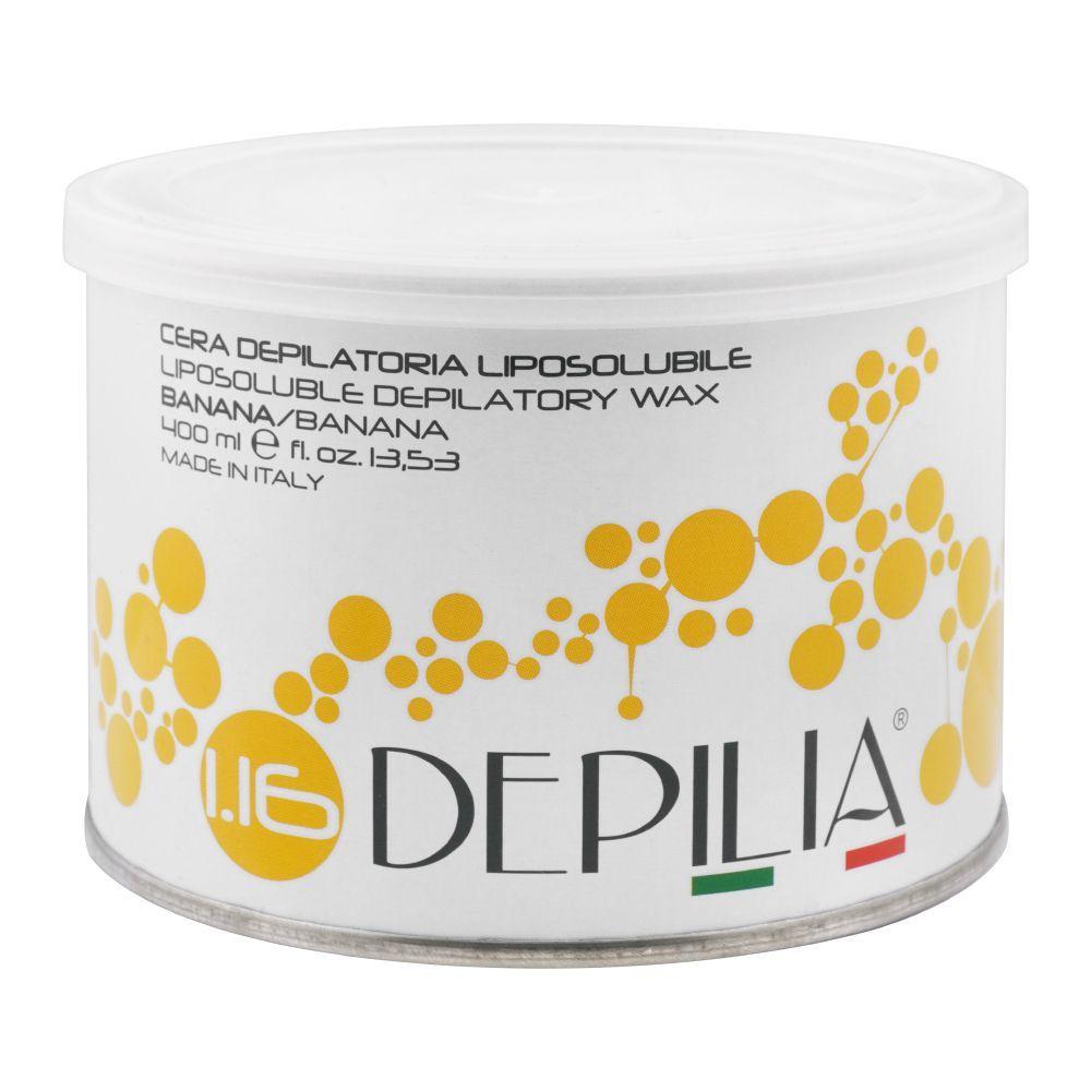Depilia Banana 1.16 Liposoluble Depilatory Wax, 400ml