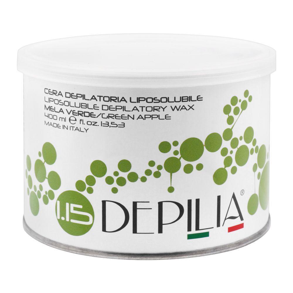 Depilia Green Apple 1.15 Liposoluble Depilatory Wax, 400ml
