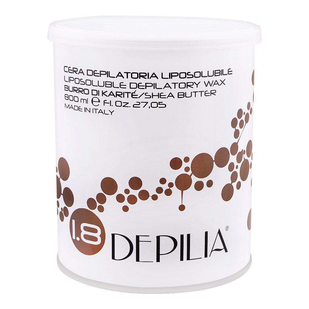 Depilia Shea Butter 1.8 Liposoluble Depilatory Wax, 800ml