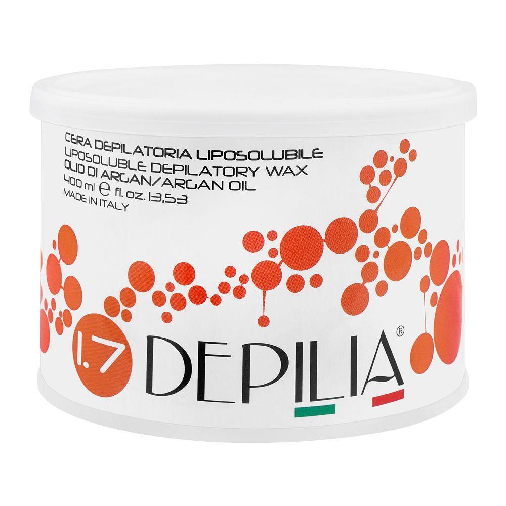 Depilia Argan Oil 1.7 Liposoluble Depilatory Wax, 400ml