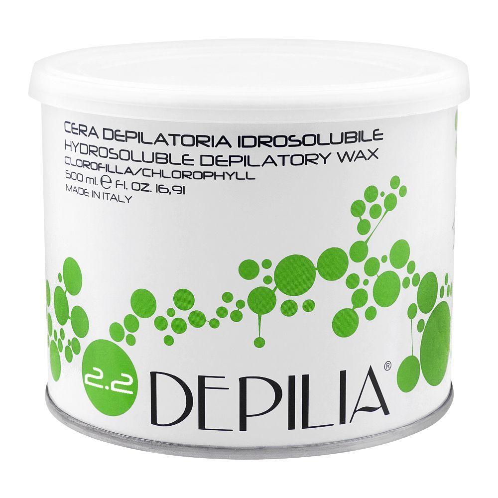 Depilia Chlorophyll 2.2 Hydrosoluble Depilatory Wax, 500ml