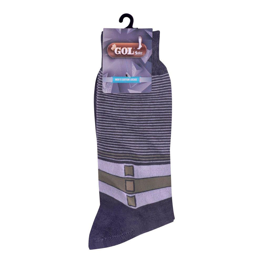 Gol Men's Cotton Sock, C-1, Gray