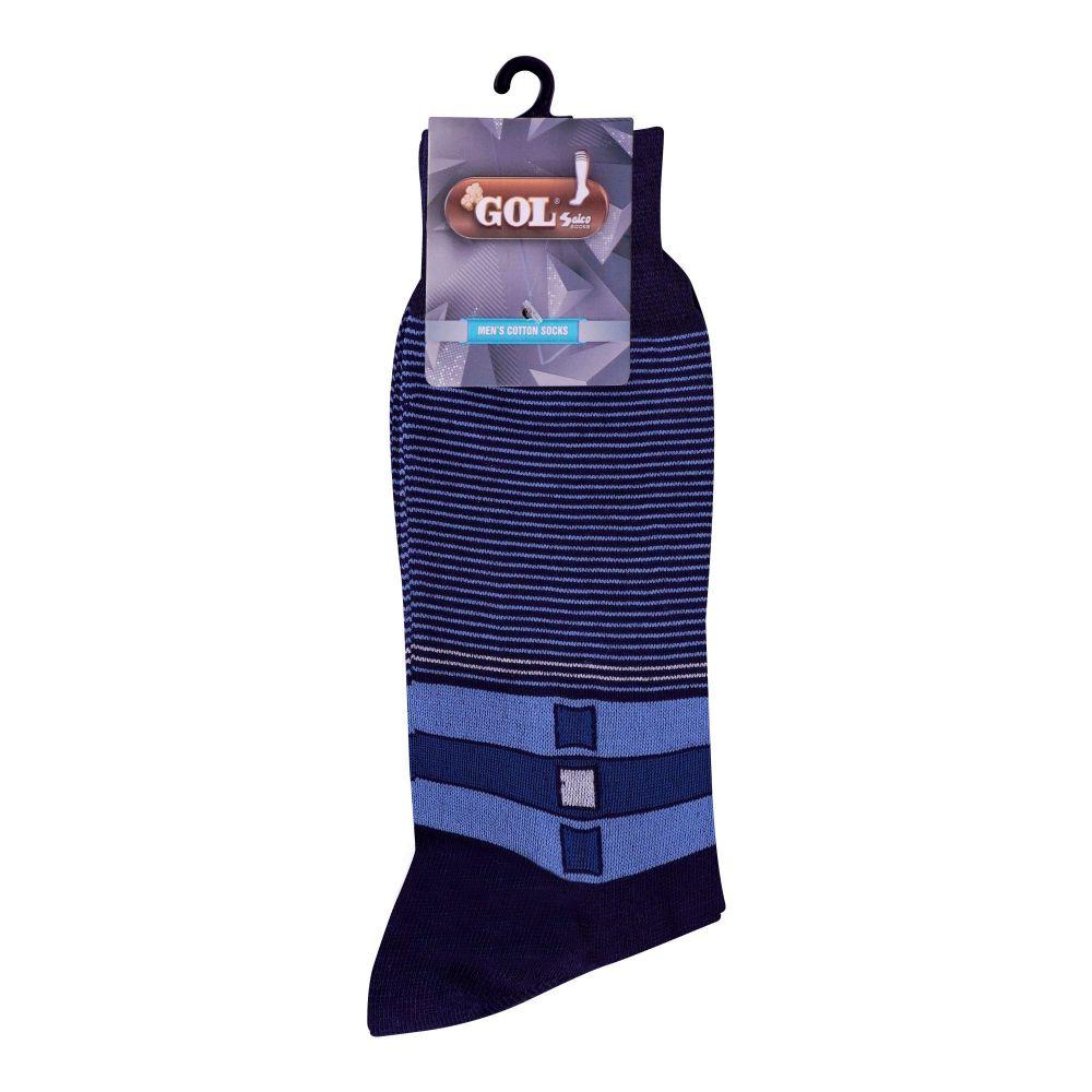Gol Men's Cotton Sock, C-1, Blue