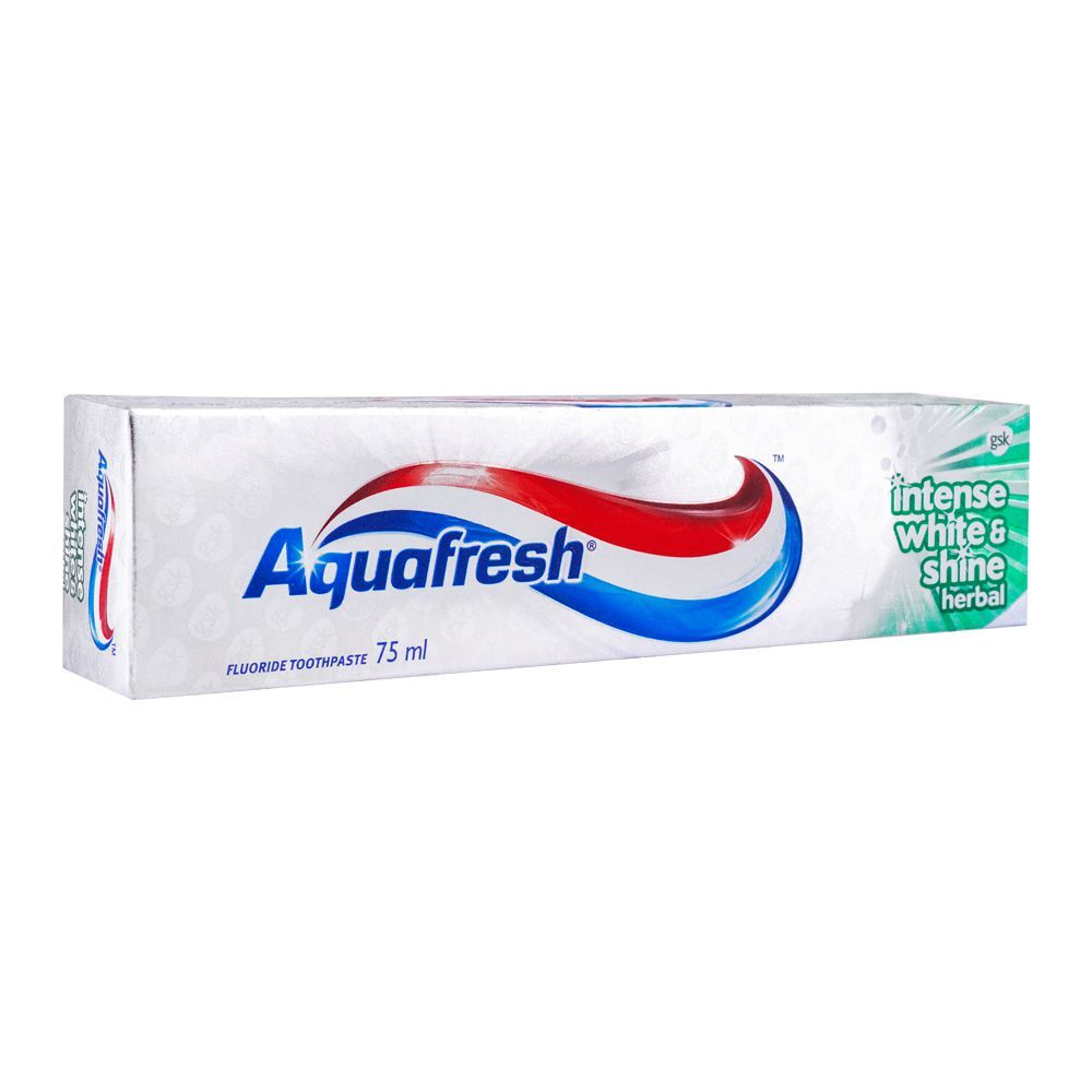 Aquafresh Intense White & Shine Herbal Fluoride Toothpaste 75ml