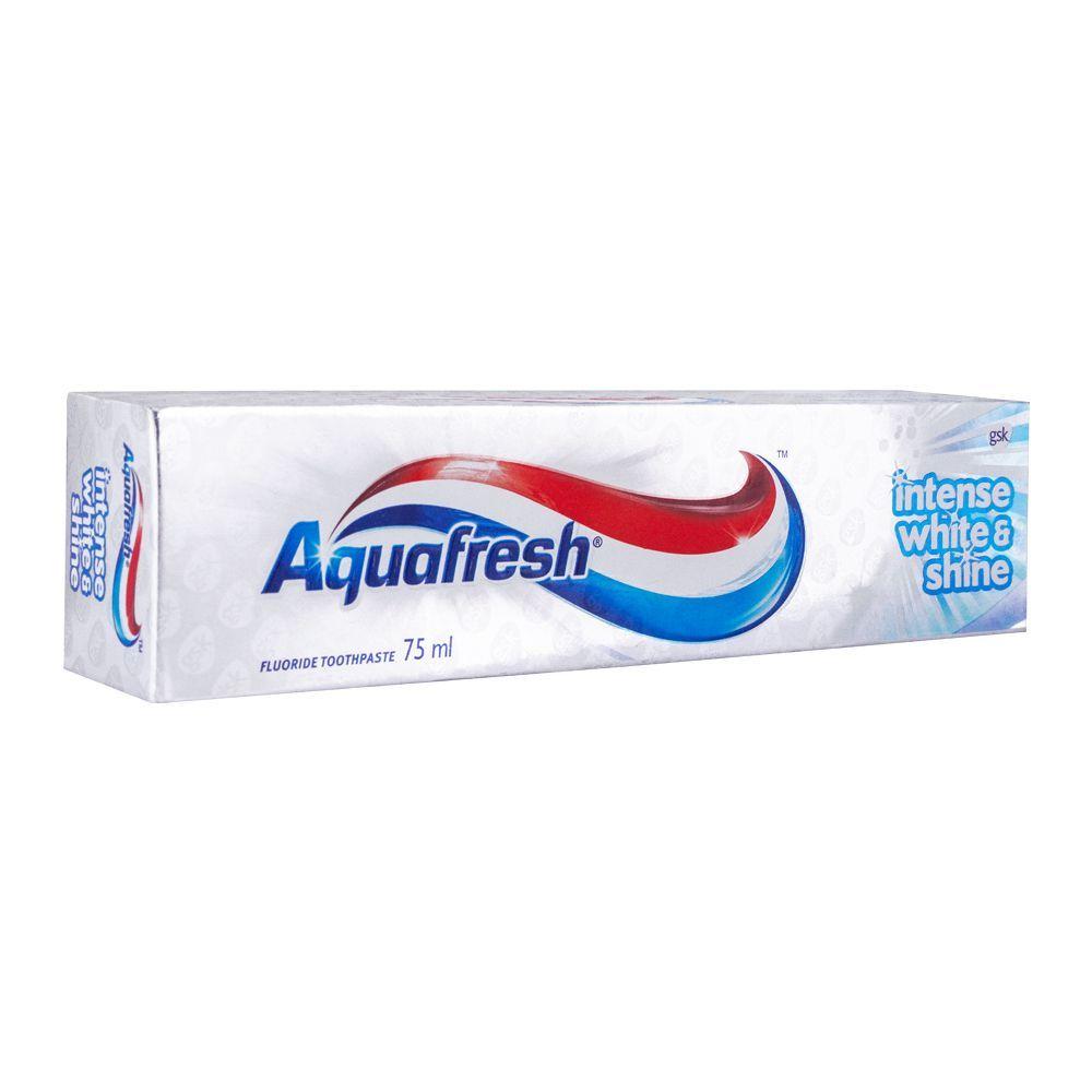 Aquafresh Intense White & Shine Fluoride Toothpaste, 75ml