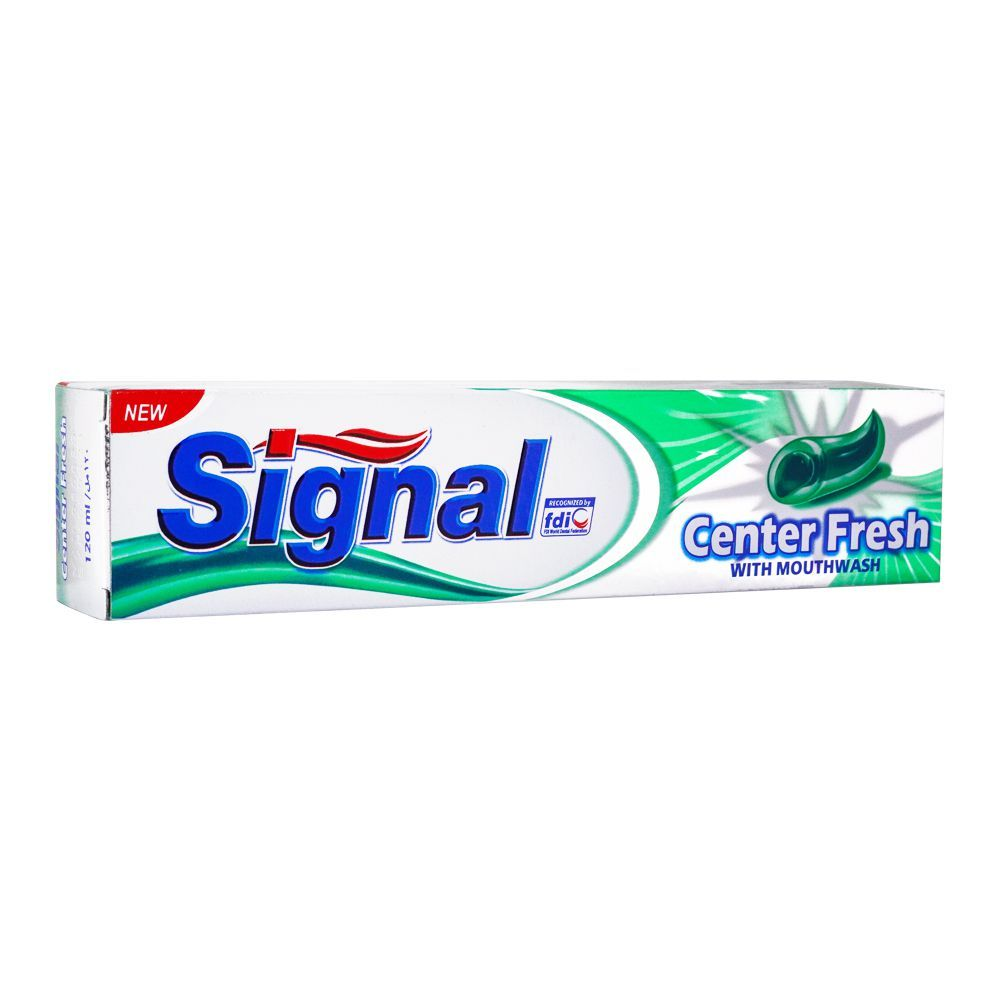 Signal Center Fresh With Mouthwash Toothpaste, 120ml