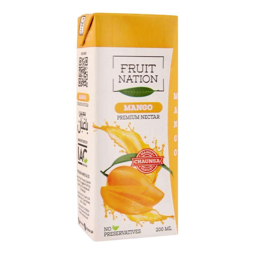 Fruit Nation Mango Premium Nectar Fruit Drink, 200ml