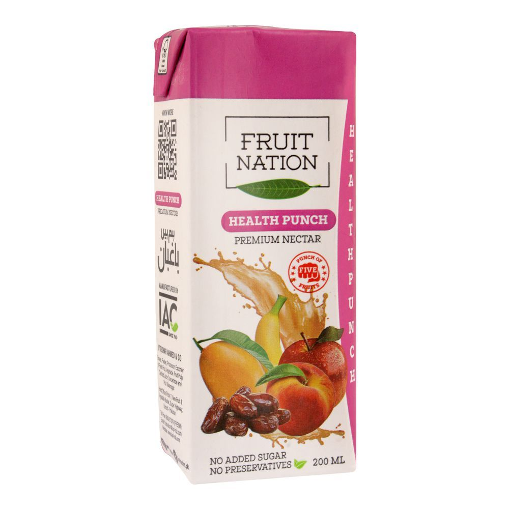 Fruit Nation Health Punch Premium Nectar Fruit Drink, 200ml