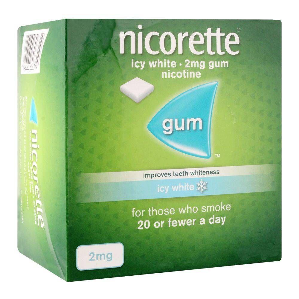 Nicorette Icy White Gum, 2g, 1 Strip (15 Tablets)
