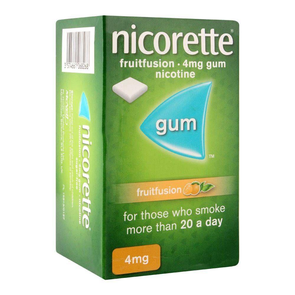 Nicorette Fruit Fusion Gum, 4g, 1 Strip (15 Tablets)