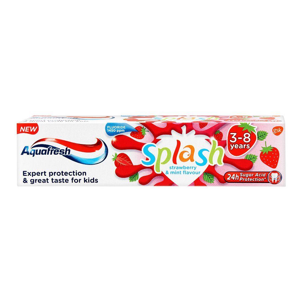 Aquafresh Splash Strawberry & Mint Flavour Toothpaste, 50m