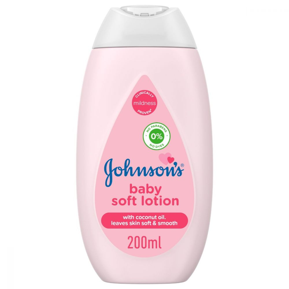 Johnson's Soft Baby Lotion, With Coconut Oil, Paraben Free, 200ml