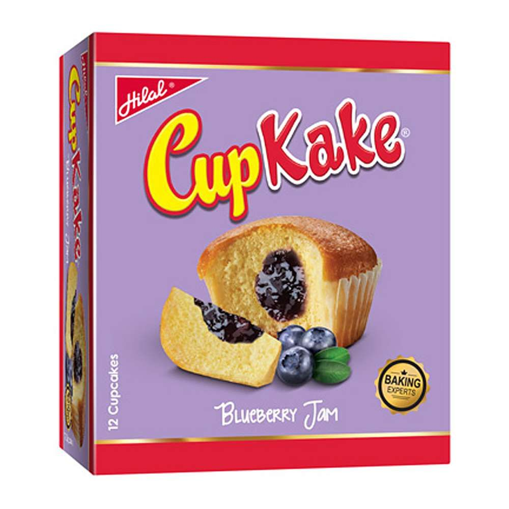 Hilal Cup Kake, Blueberry Jam, 12 Pieces, 20g
