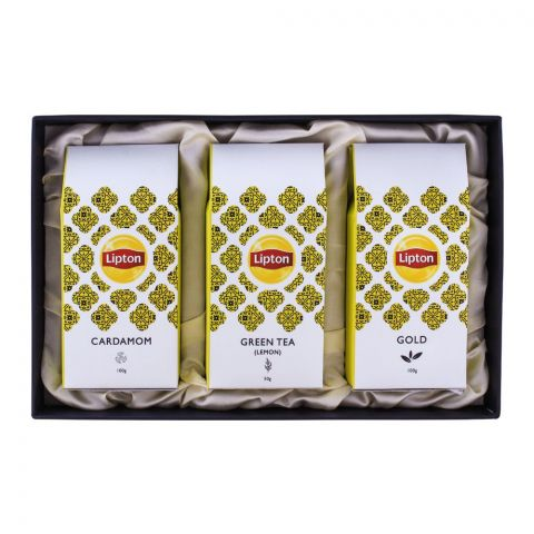 Liption Eid Gift Box 3-In-1 (Cardamom + Green Tea + Gold)