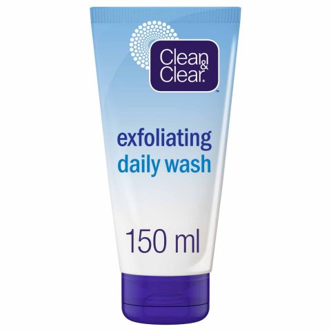 Clean & Clear Exfoliating Daily Wash, Oil Free, 150ml