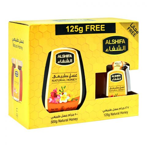 Al-Shifa Natural Honey 500gm + FREE 125g