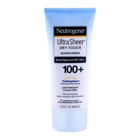 Neutrogena Ultra Sheer Dry-Touch Sunscreen, SPF 100+, 88ml