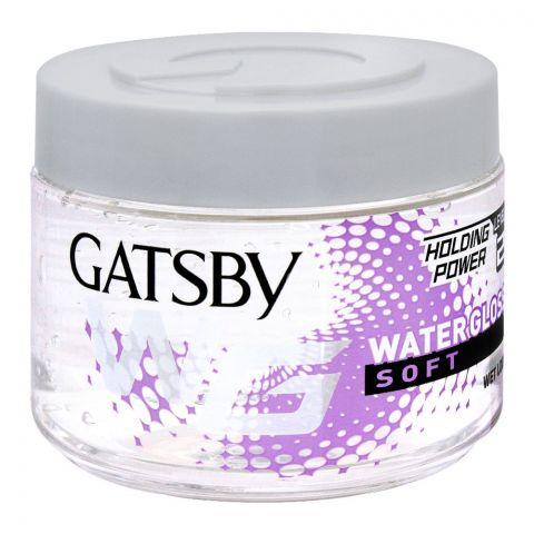 Gatsby Water Gloss Soft Hair Gel, Wet Look, 300g