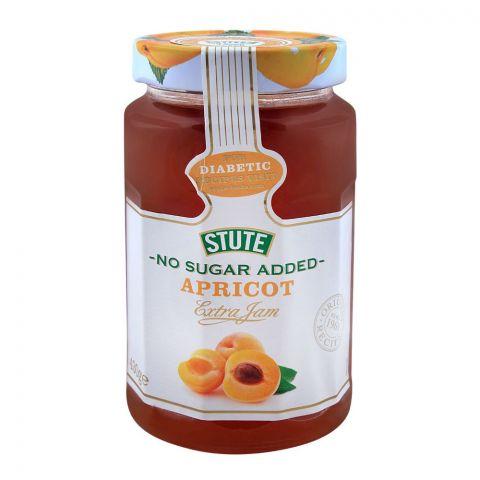 Stute No Sugar Added Apricot Jam 430g