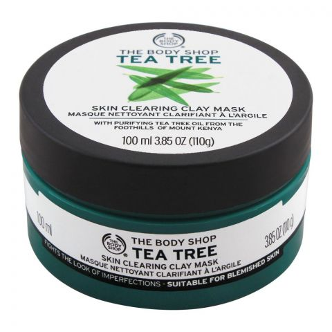 The Body Shop Tea Tree Skin Clearing Clay Mask, 100ml