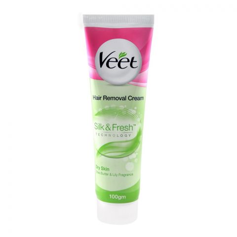 Veet Dry Skin Shea Butter & Lily Hair Removal Cream 100gm