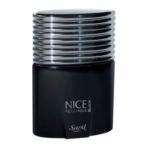 Sapil Nice Feelings Black For Men Eau De Toilette, 75ml