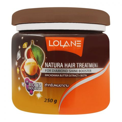 Lolane Natura Hair Treatment, For Diamond Sheer Booster, With Macadamia Butter Extract + Biotin, 250g