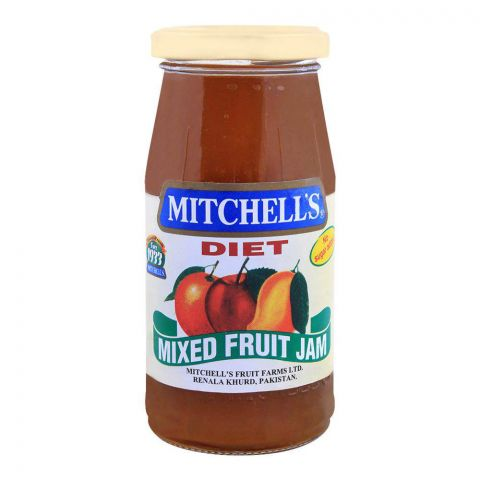 Mitchell's Mixed Fruit Diet Jam 325g