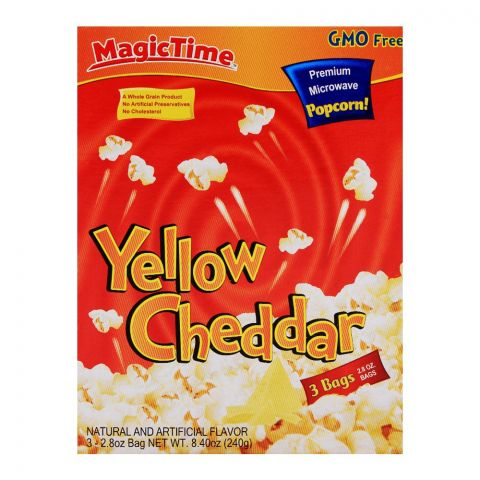Magic Time Yellow Cheddar Pop Corn 240gm