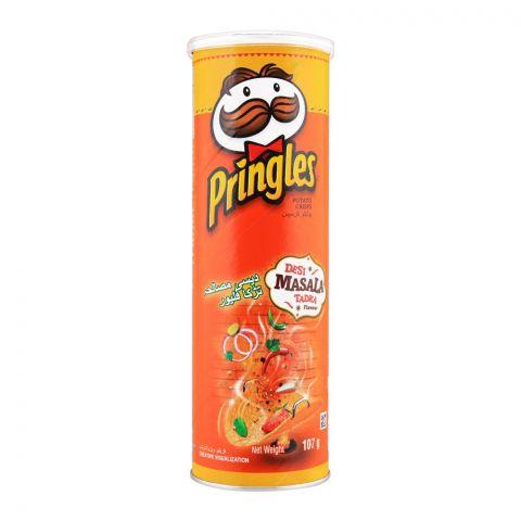 Pringles Potato Crisps, Desi Masala Tadka Flavor, 107g