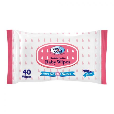 Cool & Cool Baby Wipes, 40-Pack