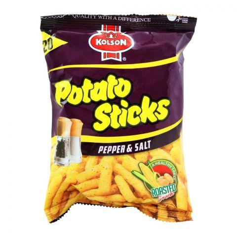 Kolson Potato Sticks, Pepper & Salt, 38g