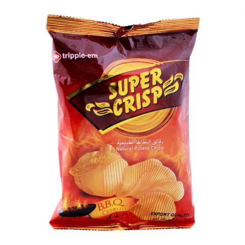 Super Crisp BBQ Crinkled Potato Chips, 33g