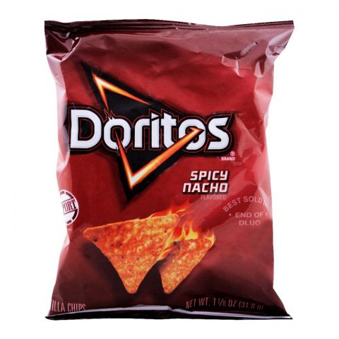 Doritos Spicy Nacho Tortilla Chips (Imported), 31.8g/1.25oz