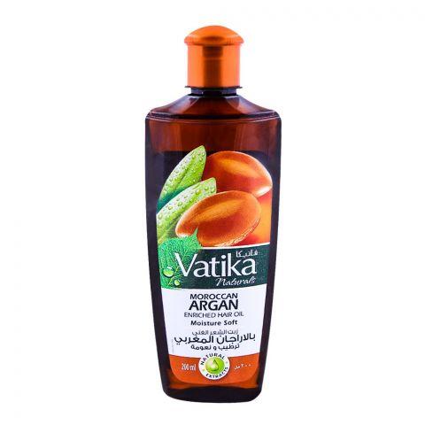 Dabur Vatika Moroccan Argan Enriched Hair Oil, Moisture Soft 200ml
