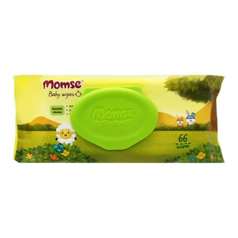 Momse Baby Wipes, 66-Pack