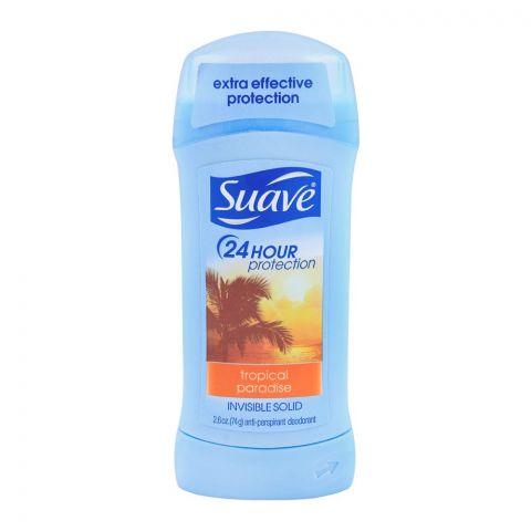 Suave Tropical Paradise Invisible Solid Anti-Perspirant Deodorant Stick, 74g
