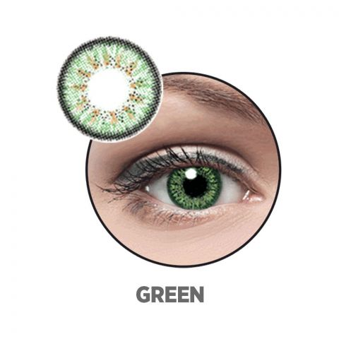 Optiano Soft Color Contact Lenses, Green