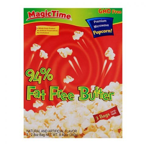 Magic Time 94% Fat Free Butter Pop Corn 240gm