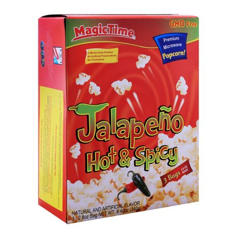 MagicTime Jalapeno Hot and Spicy Popcorn 240g