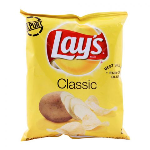 Lay's Classic Potato Chips (Imported), 28.3g/1oz