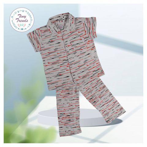 Tiny Trends Boys Night Suit, Pink