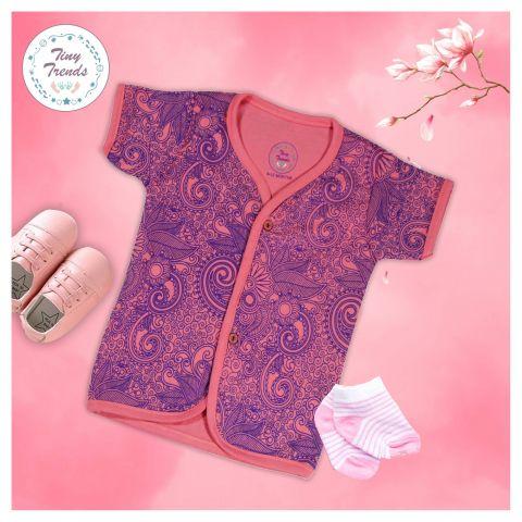 Tiny Trends Light Floral Girls Jabla, Shocking Pink